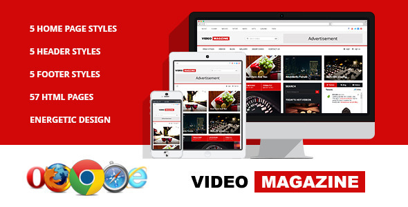 Video Magazine - HTML Magazine Template - Entertainment Site Templates