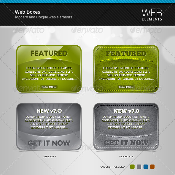 Web Boxes - Sliders & Features Web Elements
