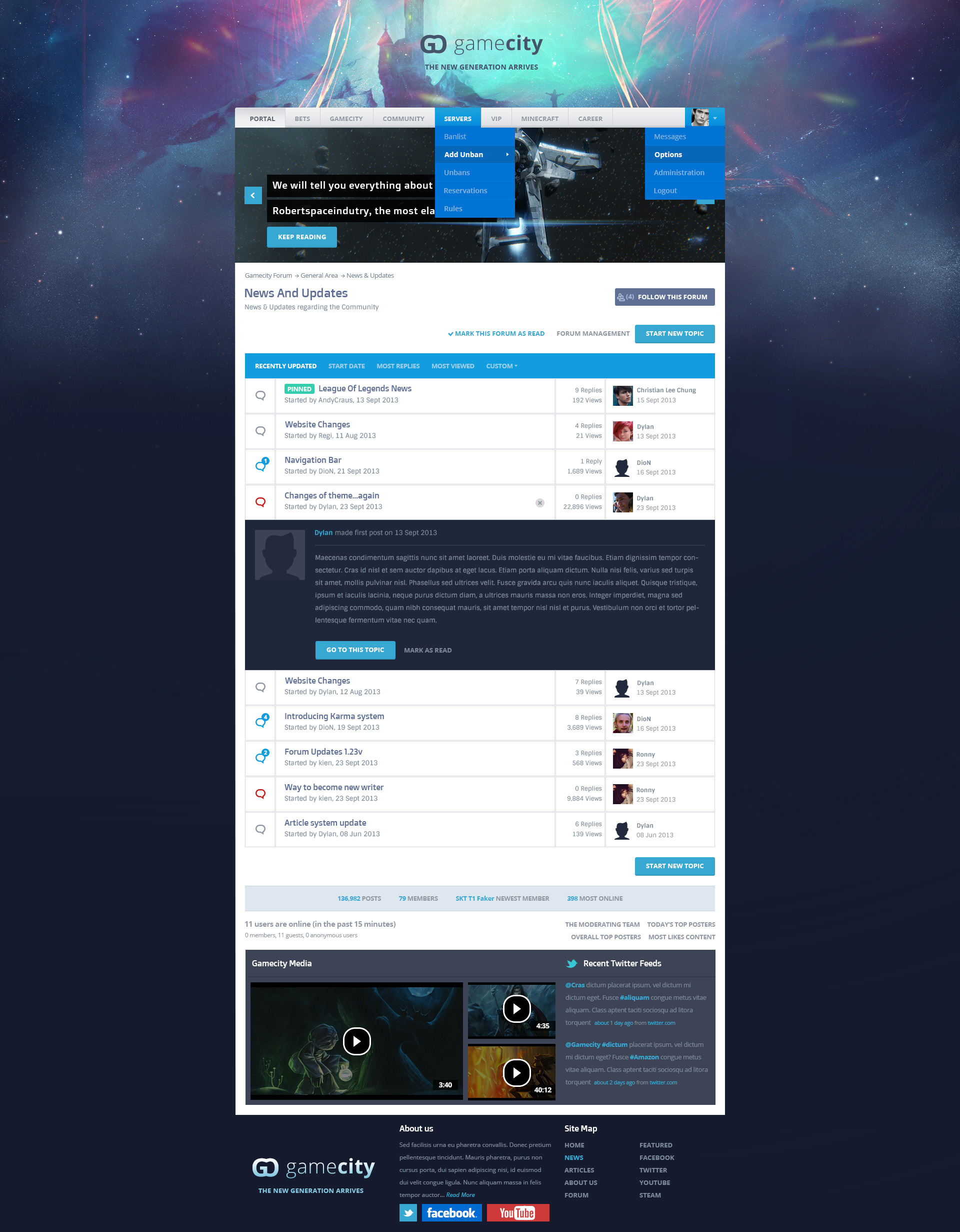 gamecity a flat responsive gaming template by deriggs007