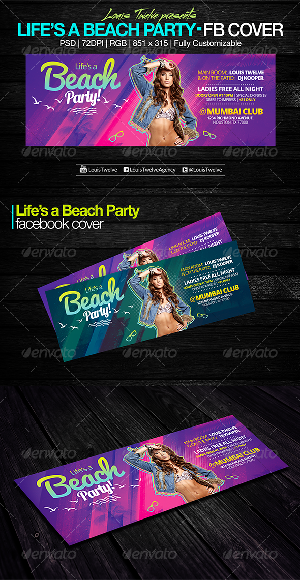 Life is a Beach Party | Facebook Cover - Facebook Timeline Covers Social Media