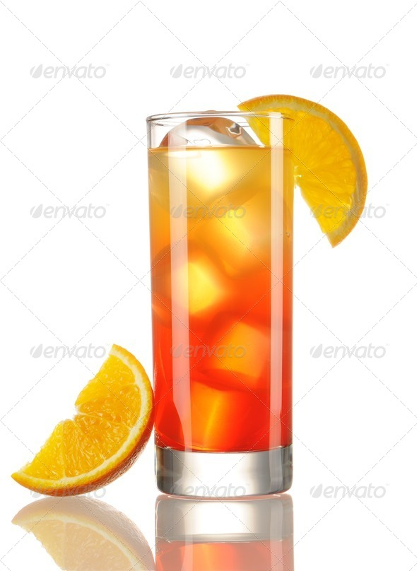 Tequila Sunrise cocktail - Stock Photo - Images