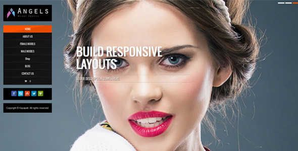Angel – Fashion Model Agency WordPress CMS Theme