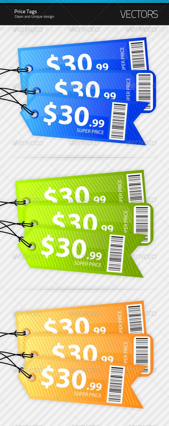 3 Price Tags - Decorative Symbols Decorative