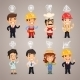 Professions Characters with Icons - GraphicRiver Item for Sale