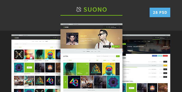 Suono - Music Template - PSD Templates