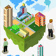 Isometric City Set - GraphicRiver Item for Sale