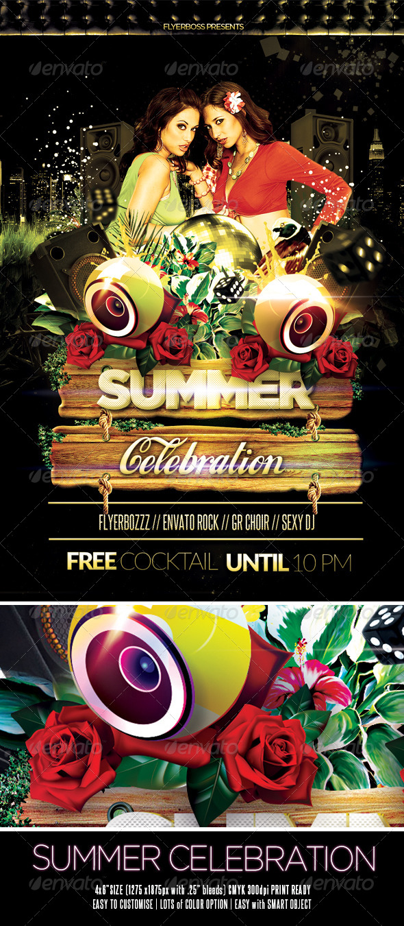 Summer Celebration Flyer - Events Flyers