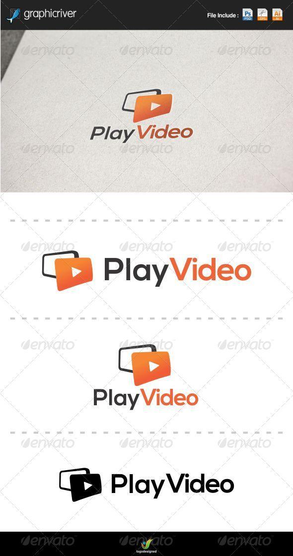 Play Video Logo - Objects Logo Templates
