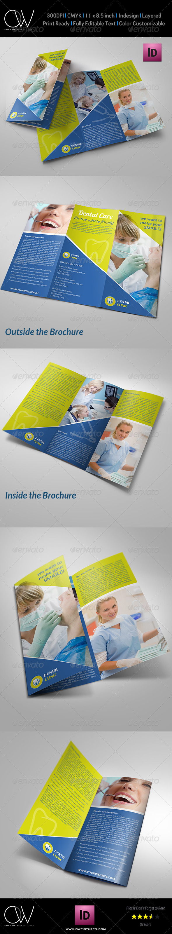 Dental Clinc Tri-Fold Brochure - Corporate Brochures