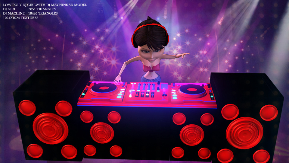 Poly DJ Girl With Machine Screenshot 06