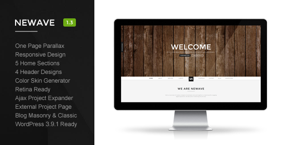 Newave – WordPress Responsive One Page Parallax