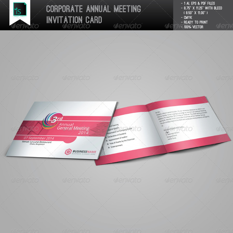 Corporate annual meeting invitation card by ideazsabbir corporate annual meeting invitation card cards invites print templates preview image set01preview1g stopboris Image collections