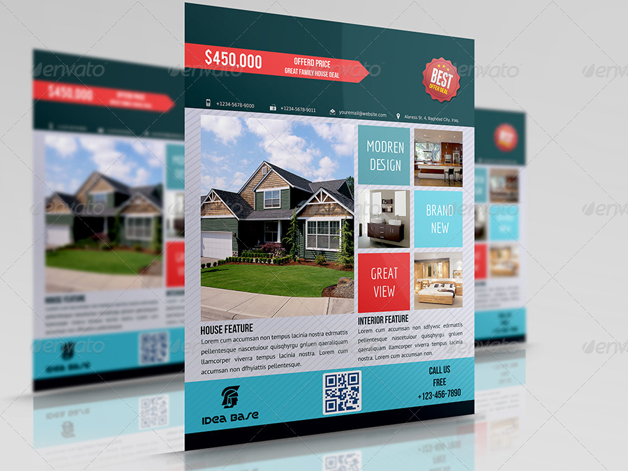 Real Estate Flyer Bundle Template Vol1 By Owpictures Graphicriver