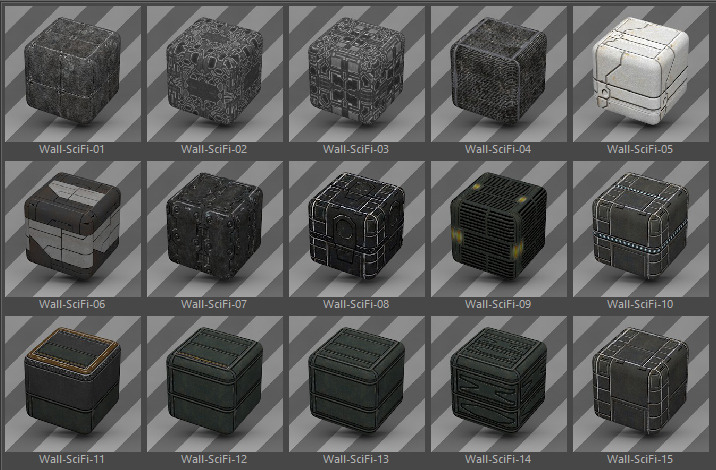42 Standard Wall Materials Pack For Cinema 4d By