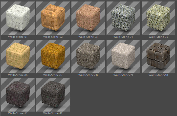 42 Standard Wall Materials Pack for Cinema 4D