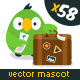 Parrot - Vector Website Mascot - GraphicRiver Item for Sale