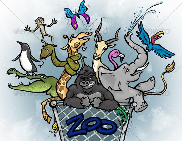 Zoo Break - Animals Illustrations
