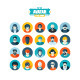 Set of Avatar Flat Icons - GraphicRiver Item for Sale