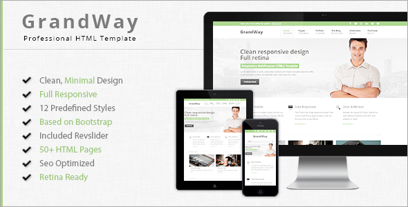 GrandWay - Fully Responsive HTML5/CSS3 Template