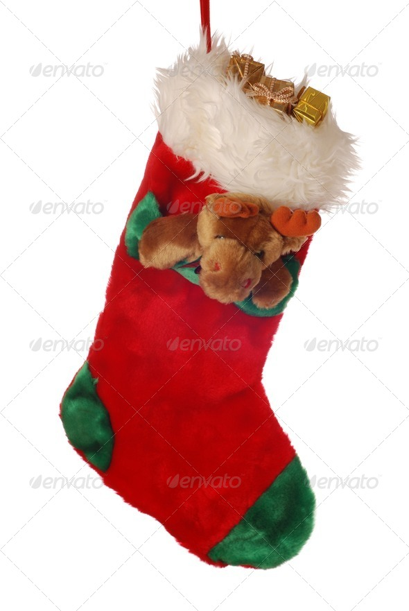 Christmas stocking - Stock Photo - Images