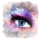 Abstract Womans' Eye Created from Polygons. - GraphicRiver Item for Sale