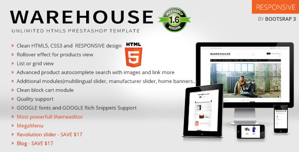 Warehouse – Responsive Prestashop 1.6 Theme + Blog