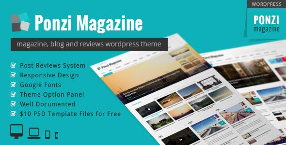 Ponzi | Responsive WordPress Theme Magazine Review