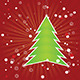 Christmas Tree on Red Background   - GraphicRiver Item for Sale