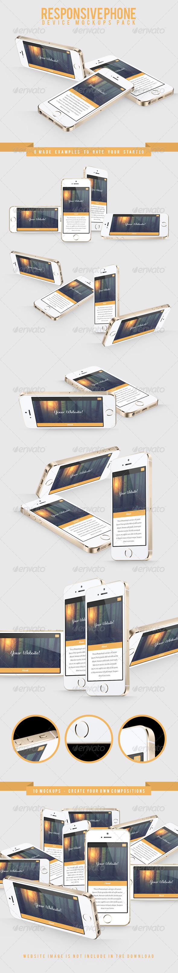 Responsive Phone Device Mockups Pack