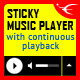 Sticky HTML5 Music Player With Continuous Playback