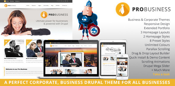 PROBusiness – Multi Purpose Corporate Drupal Theme