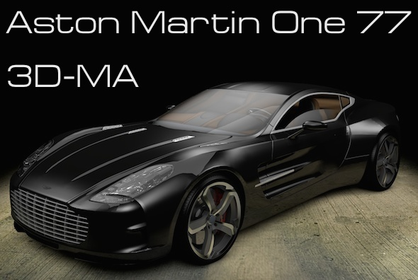 Aston Martin One 77 - 3DOcean Item for Sale