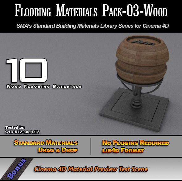 Flooring Materials Pack-03-Wood - 3DOcean Item for Sale
