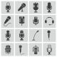 Vector Black  Microphone  Icons Set - GraphicRiver Item for Sale