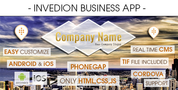Business App With CMS - Android & iOS [ 2017 Edition ] - CodeCanyon Item for Sale