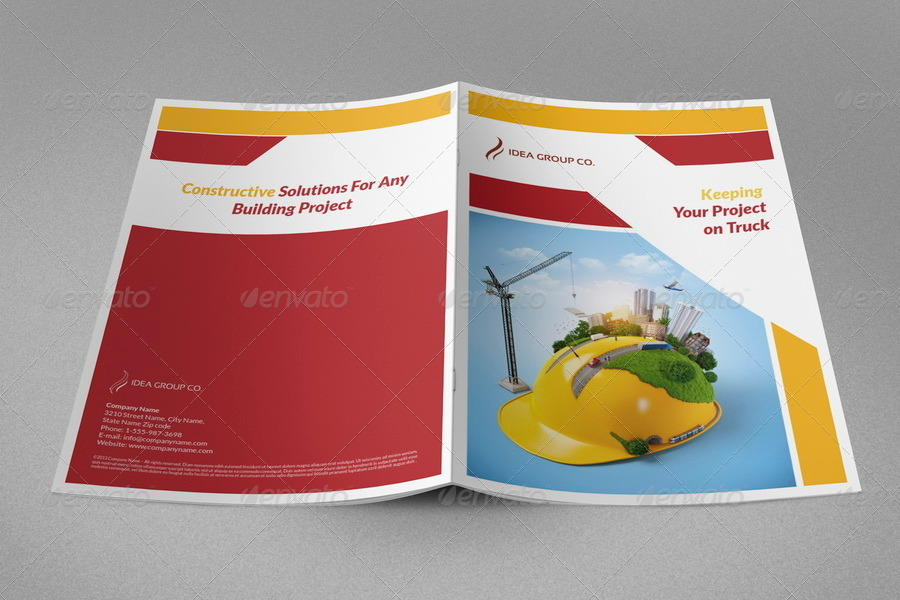 Construction Industry Brochure Template Vol2 By Owpictures