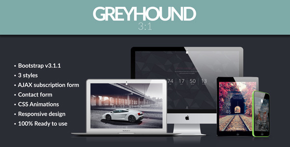 Greyhound – 3 in 1 Parallax Coming Soon Template