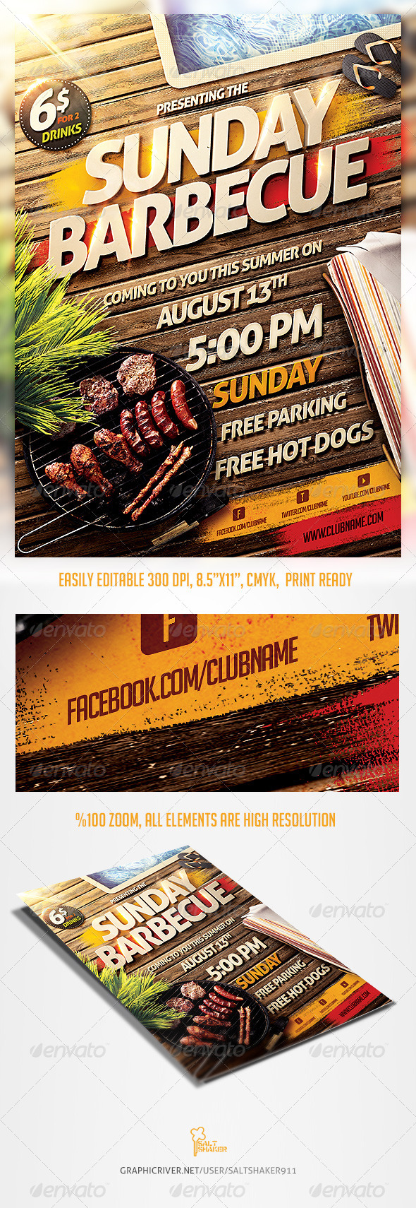 Barbecue Bbq Party Flyer Template By Saltshaker911 Graphicriver