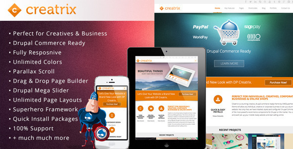 Image of Creatrix - Drupal Commerce, Multipurpose Theme
