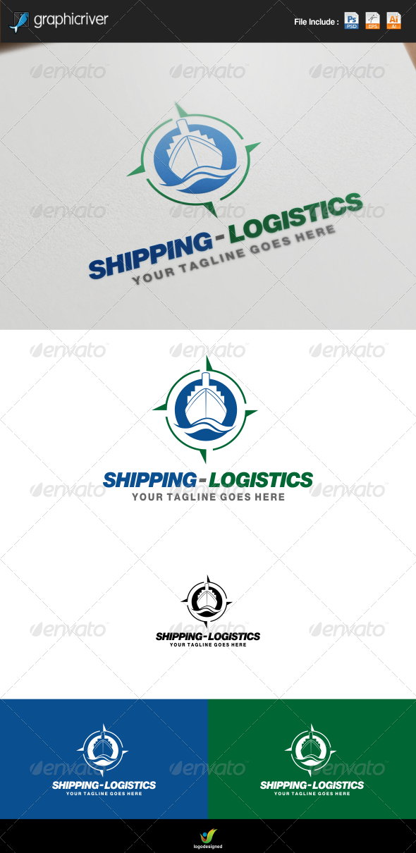 shipping and logistics logo by redvy graphicriver