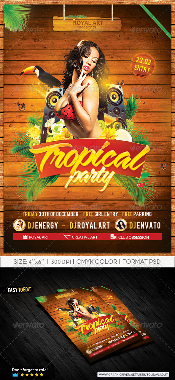 Tropical Flyer  - Events Flyers
