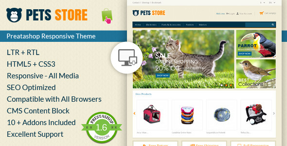 Pet Store – Prestashop Responsive Theme