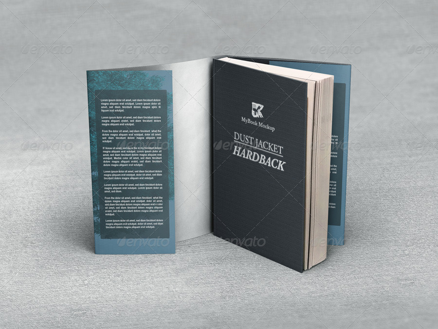 Book Dust Cover Template : Dj hardback mock up by kenoric graphicriver