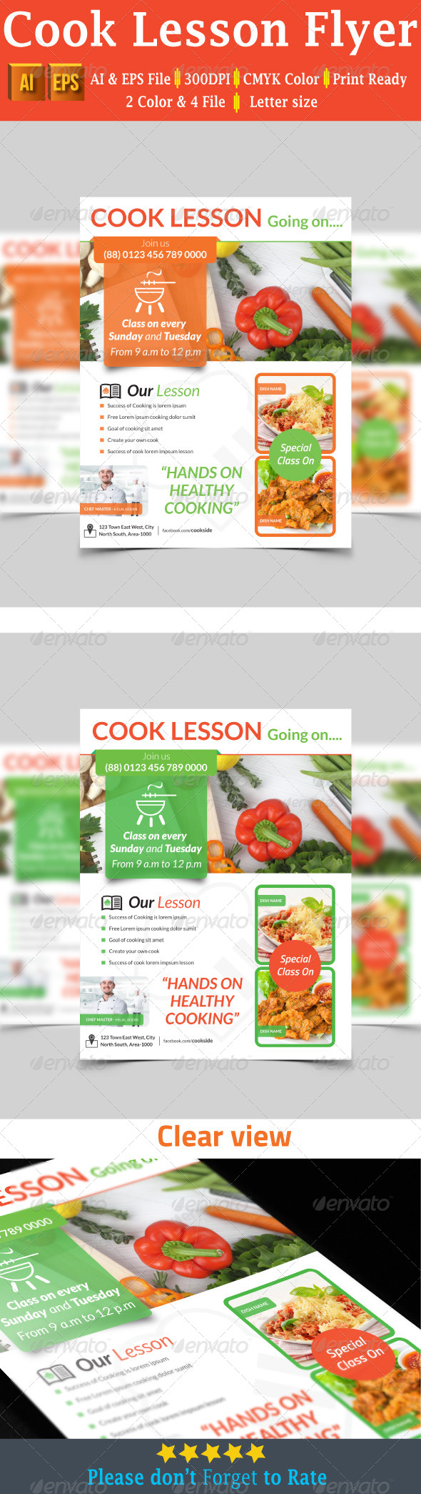 Cook Lesson Flyer - Flyers Print Templates