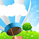 Green Landscape with Hot Air Balloon - GraphicRiver Item for Sale