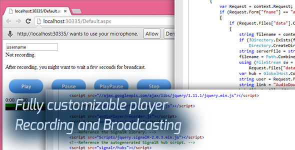 Audio Broadcast HTML5 Recorder and Player - CodeCanyon Item for Sale