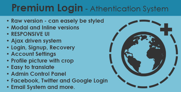 Premium Login - Authentication System - CodeCanyon Item for Sale