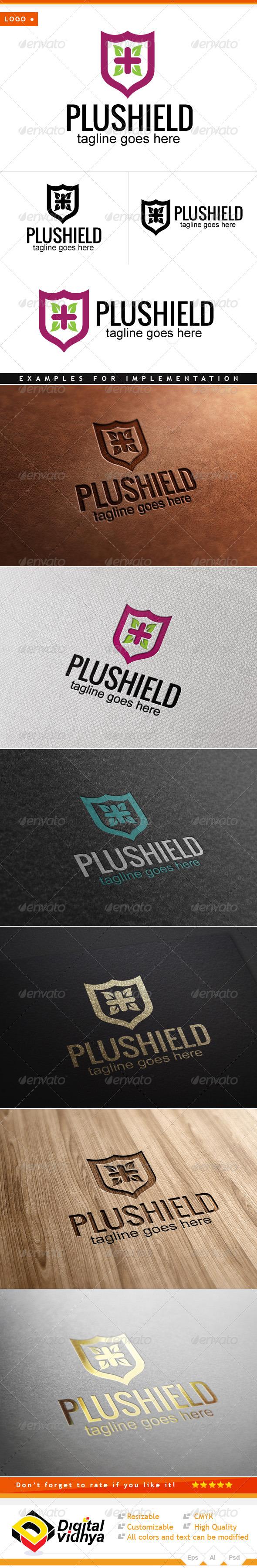 Health Plus Shield Logo - Symbols Logo Templates