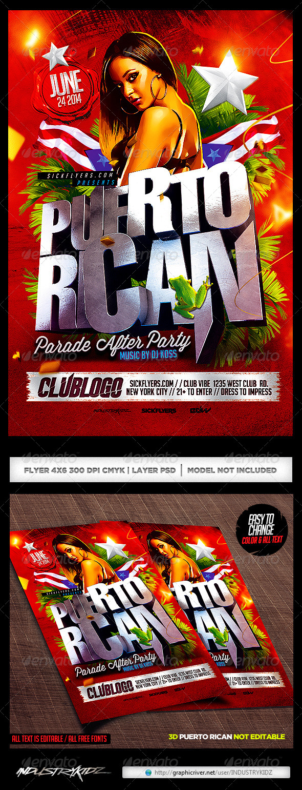 Puerto rican party flyer template psd by industrykidz graphicriver puerto rican party flyer template psd maxwellsz