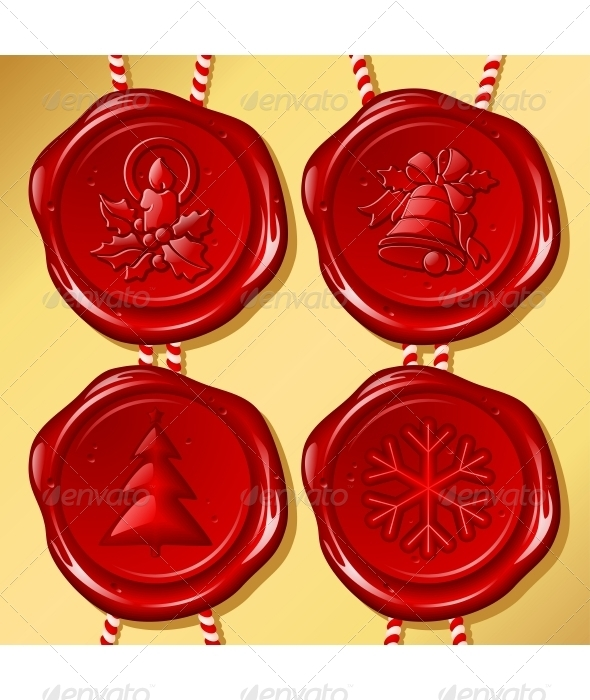 Set of Christmas sealing wax - New Year Seasons/Holidays